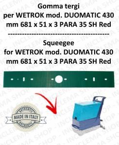 DUOMATIC 430 GOMMA TERGI  per lavapavimenti  WETROK