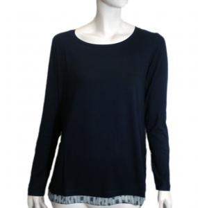 T-shirt jersey-voile nera o oceano Nero Giardini