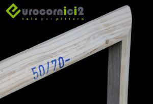 Telai stondati per tele 40mm - Stampe - in legno di abete stagionato- profilo 4 cm STONDATO - ARROTONDATO - Curvo - Telai per stampe su tela