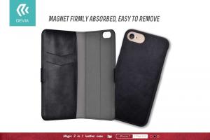 Cover custodia Magic in pelle con porta documenti per iPhone vari modelli