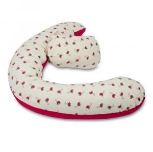 Cuscino gravidanza e allattamento multiuso Polly Fantasia Coccinella rosso