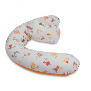 Cuscino gravidanza e allattamento multiuso Polly Fantasia Arancio