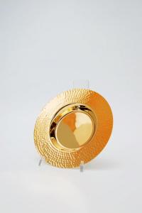 Pisside patena in metallo dorato martellato FEL3100
