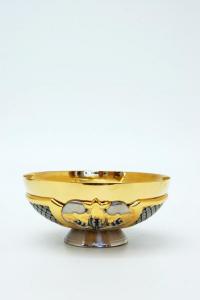 Pisside patena in metallo bicolore FRA103