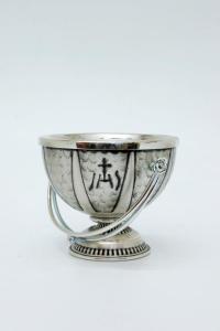 Secchiello in metallo argentato brunito FRA508A