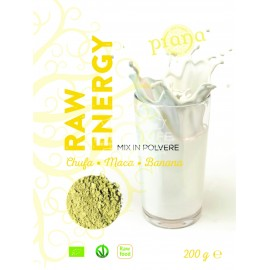 MIX IN POLVERE RAW ENERGY con Chufa, Maca e Banana - Adatto come aggiunta agli SMOOTHIES