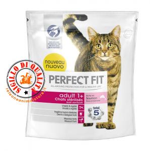Perfect Fit Adult 1+ con Salmone 400gr Cibo Secco per Gatti Sterilizzati