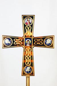 Croce astile con smalti FEL3135