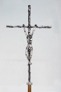 Croce Astile in Bronzo Argentato GALF292A