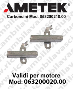 063200020.00 Paar Motorbürsten für motor Ametek 053200210.00