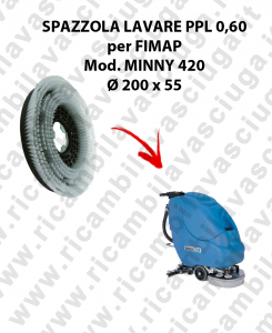 STANDARD BRUSH  for scrubber dryer FIMAP model MINNY 420 PPL 0,6 - ⌀200 X 55 mm