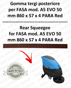 A5 EVO 50 squeegee rubber scrubber dryer back for FASA
