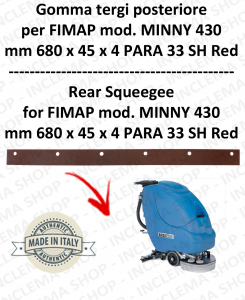 MINNY 430 Hinten sauglippen für scheuersaugmaschinen FIMAP