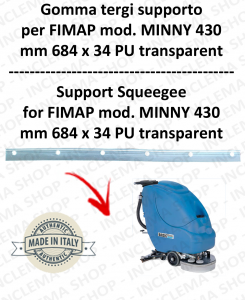 MINNY 430 squeegee rubber support for FIMAP