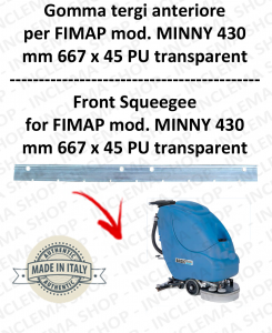 MINNY 430 goma de secadopavimento delantera para fregadora FIMAP
