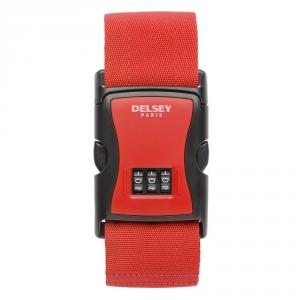Delsey - Cinghia per bagagli con 3 combinazioni rossa cod. 3940090
