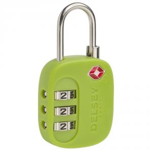 Delsey - Lucchetto con 3 combinazioni tsa verde cod. 3940210