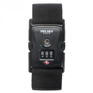 Delsey - Cinghia per bagagli con 3 combinazioni tsa nero cod. 9040091