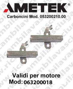 COPPIA di Carboncini Vacuum motor for Amate vacuum motor  063200018 -  2 x Cod: 053200210.00-2
