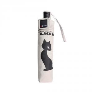 H.DUE.O - BlacK Cat - Ombrello automatico piccolo bianco cod. H214