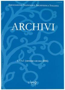 Archivi a.I n.1 (gennaio-giugno 2006)
