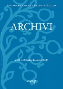 Archivi a.III n.2 (luglio-dicembre 2008)