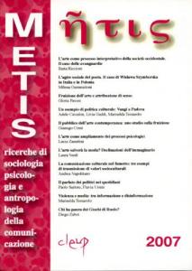 Metis, XIV N. 1 - 2007