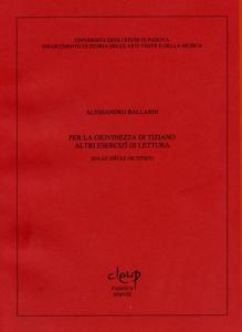 Per la giovinezza di Tiziano. Altri esercizi di lettura
