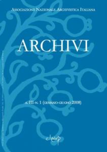 Archivi a.III n.1 (gennaio-giugno 2008)