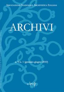 Archivi a.V n.1 (gennaio-giugno 2010)