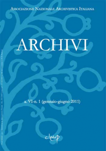 Archivi a.VI n.1 (gennaio-giugno 2011)