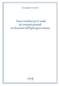 Nuovi contributi per lo studio dei connotati personali nei documenti dell´Egitto greco-romano