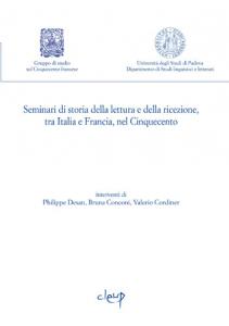 Seminari di storia della lettura e ricezione, tra Italia e Francia, nel Cinquecento 1