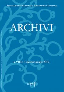 Archivi a.VIII n.1  (gennaio-giugno 2013)