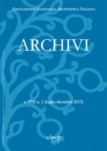 Archivi a.VIII-n. 2 (luglio-dicembre 2013)