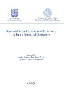 Seminari di storia della lettura e ricezione, tra Italia e Francia, nel Cinquecento 3