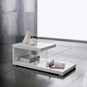 Tavolino New York Bianco Lucido