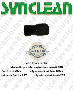 Cuff for Vacuum hose from ⌀40 ABS Valid for Ghibli AS27 - Synclean MX27