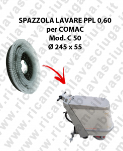 STANDARD BRUSH  for scrubber dryer COMAC model C 50 ⌀ 245 x 55 PPL 0,60