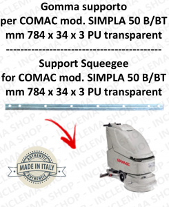 Squeegee rubber support for scrubber dryer COMAC SIMPLA 50 B/BT