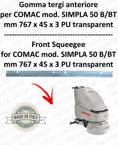 Bavette avant pour autolaveuses COMAC SIMPLA 50 B/BT