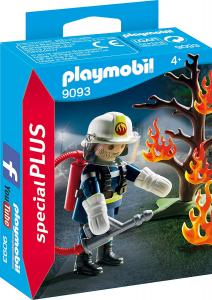 PLAYMOBIL POMPIERE CON ALBERO IN FIAMME 9093
