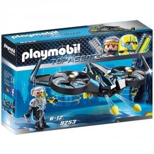PLAYMOBIL TOP AGENTS MEGA DRONE CON SERGENTE K 9253
