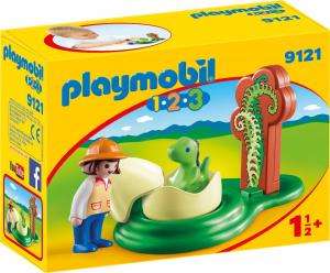 PLAYMOBIL RAGAZZA CON UOVO DI DINOSAURO 1.2.3 9121