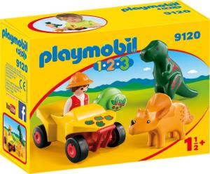 PLAYMOBIL ESPLORATORE CON DINOSAURI 1.2.3 9120