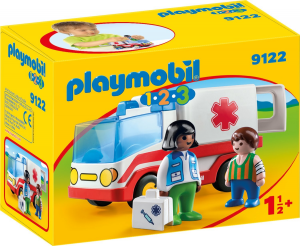 PLAYMOBIL AMBULANZA 1.2.3 9122