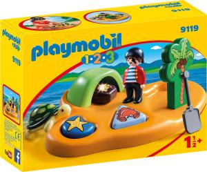 PLAYMOBIL ISOLA DEI PIRATI 1.2.3 9119