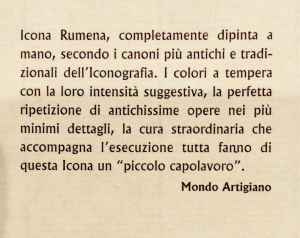 Icona rumena dipinta Arcangelo Gabriele 10x14 cm