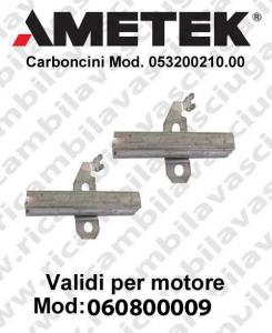 COPPIA di Carboncini motor de aspiración para motori Ametek  060800009 -  2 x Cod: 053200210.00