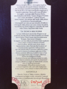 Icona bulgara dipinta San Nicola 20x15 cm